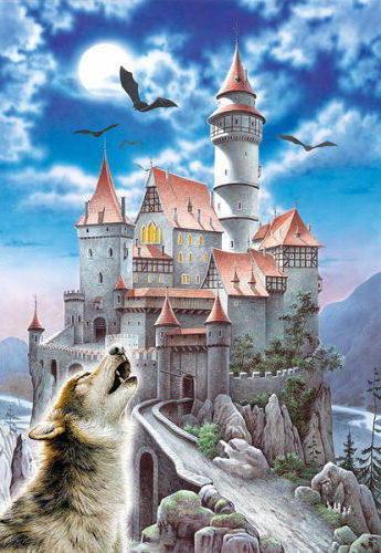 Замок , замок, волк, красиво