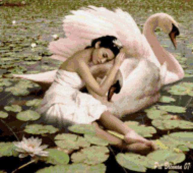 Девушка и лебедь, предпросмотр
