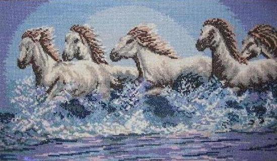 Бегущие по воде кони, оригинал
