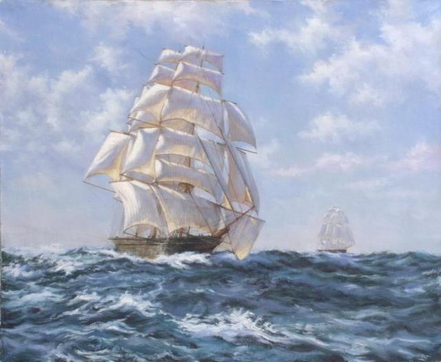 Схемы для вышивки море корабли