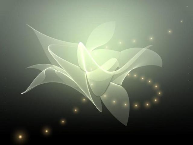 Лунный цветок, абстракция