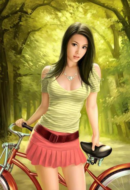 велосипедистка картинки