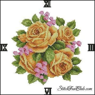 Часы, цветы, розы, часы