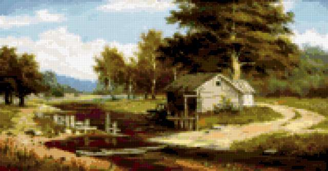 Сельский пейзаж, предпросмотр
