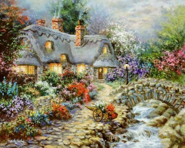 Домик в цветах, домики,