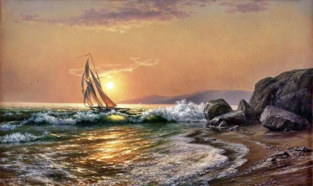Корабли, пейзаж, море, корабли