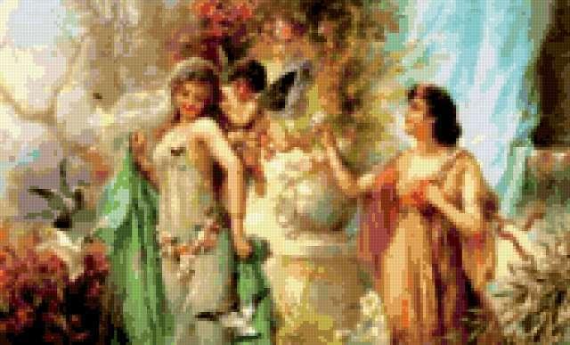 Вышивка крестом афродита