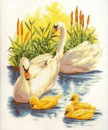 Семья лебедей, оригинал