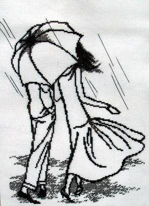 Двое под зонтом, оригинал