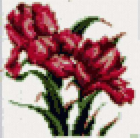 горшке-5, цветы, петушки,