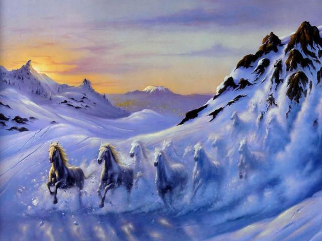 Зимние лошадки, оригинал
