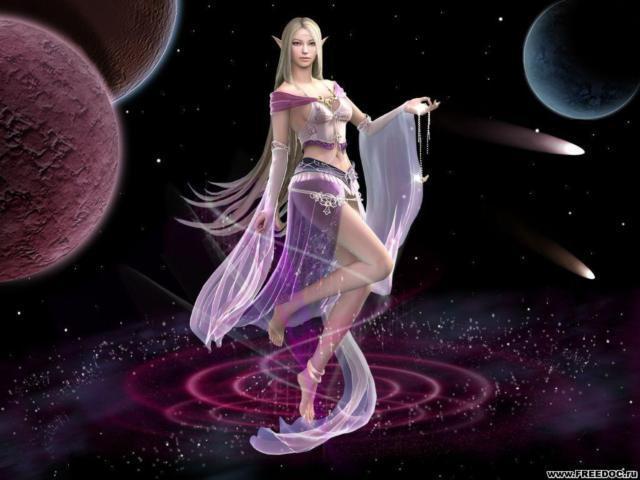 Танцующая девушка-эльф