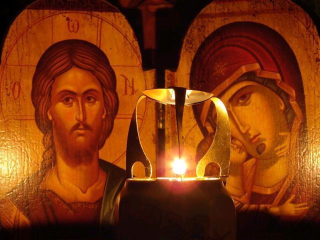 У святых образов, оригинал