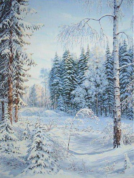 Зимушка, природа, зима, снег