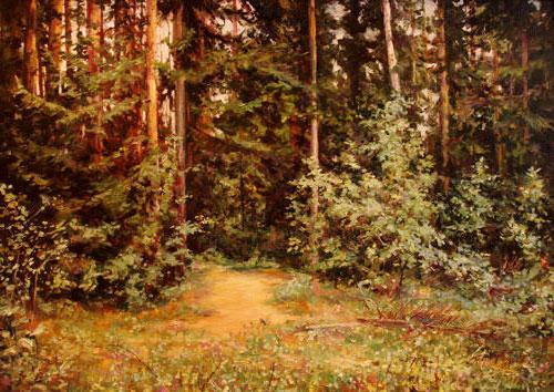 В лесу тишина, оригинал