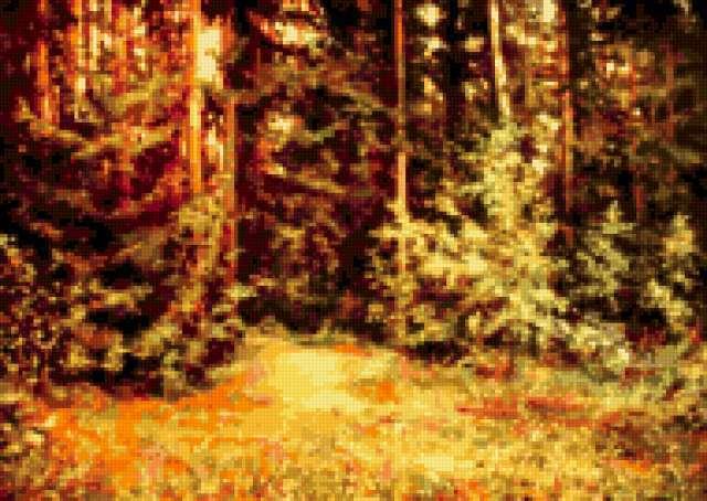 В лесу тишина, предпросмотр