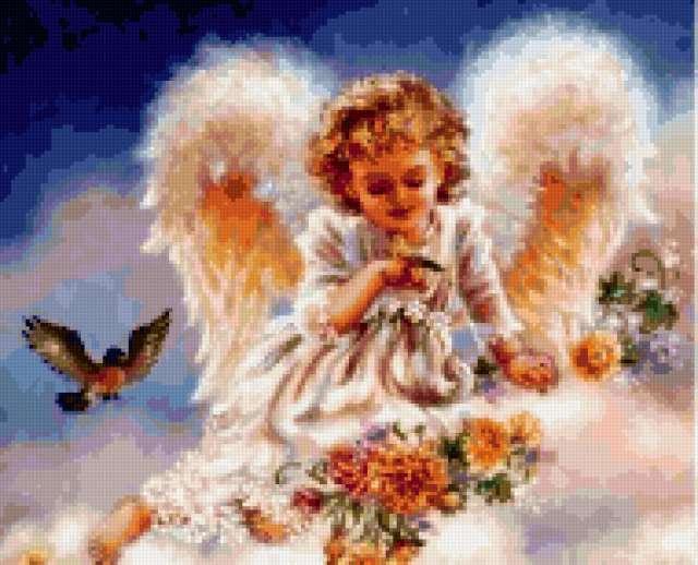 Ангел на облаке, предпросмотр