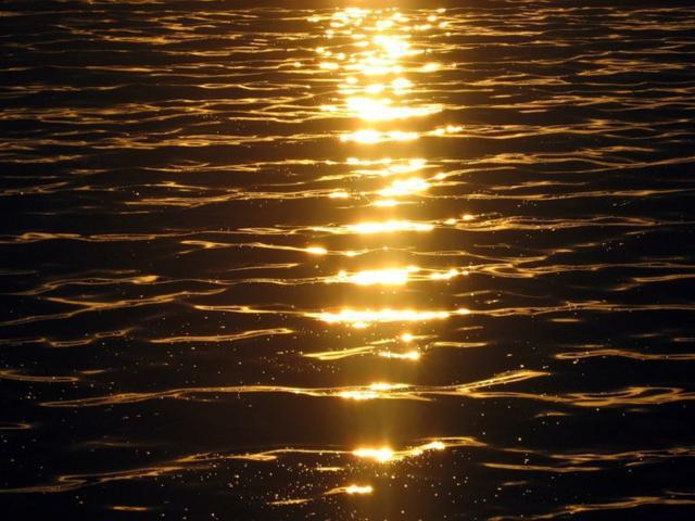 Море на закате, закат, море