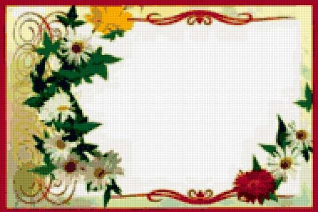 Рамка с цветами, предпросмотр