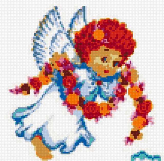 Вышивка крестиком ангеломи