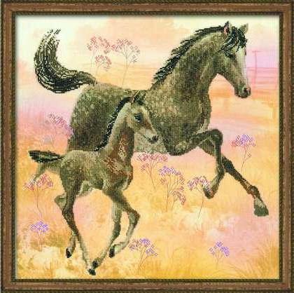 Лошадь с жеребенком, оригинал