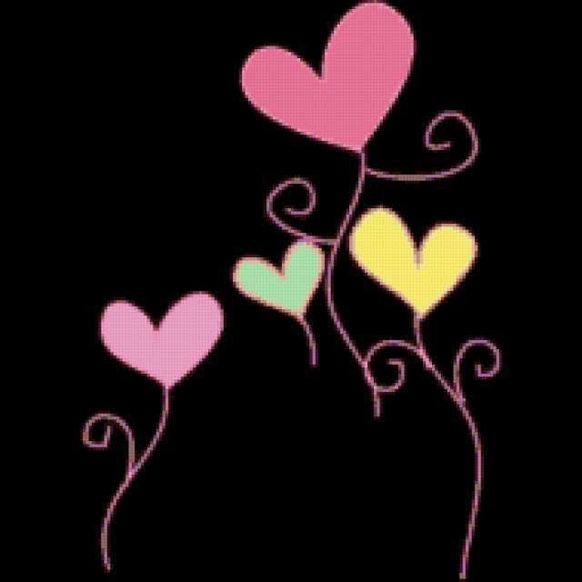 """Подушка """"Счатливые сердца"""""""