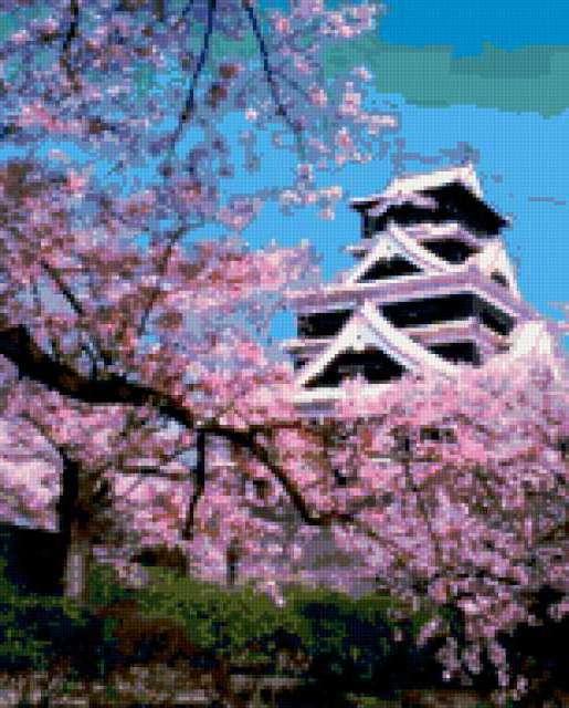 Сирень и домик в японском