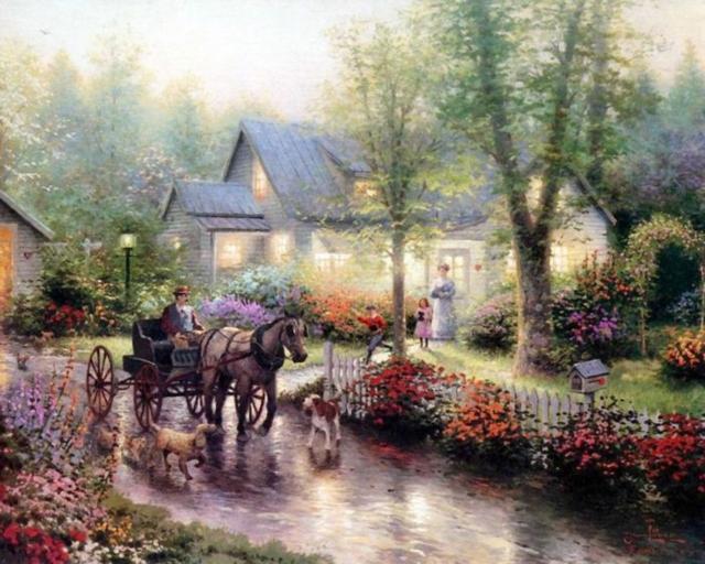 Томас Кинкейд, картины