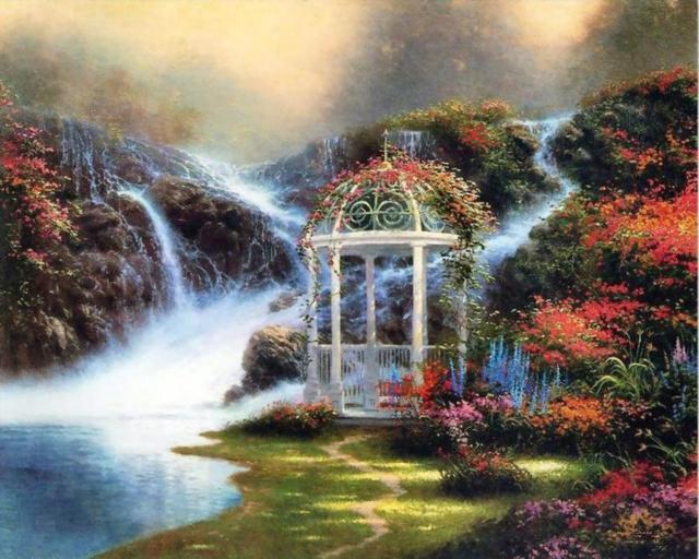 Беседка у водопада, оригинал