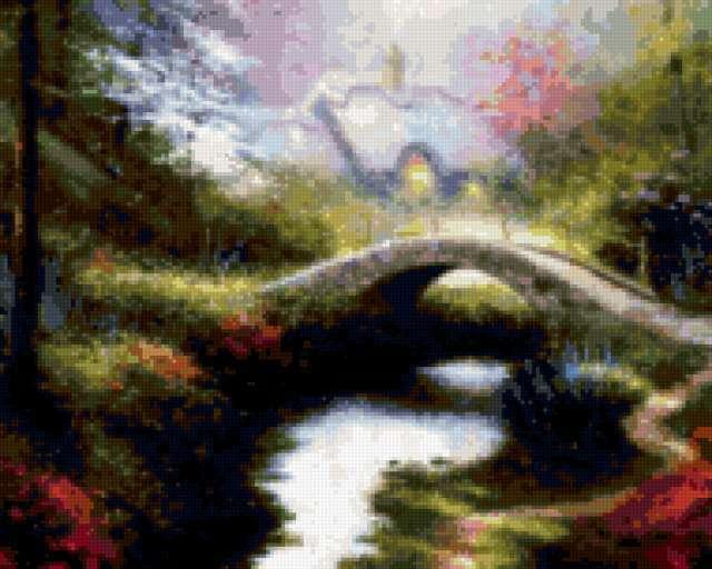 Мост через реку, предпросмотр