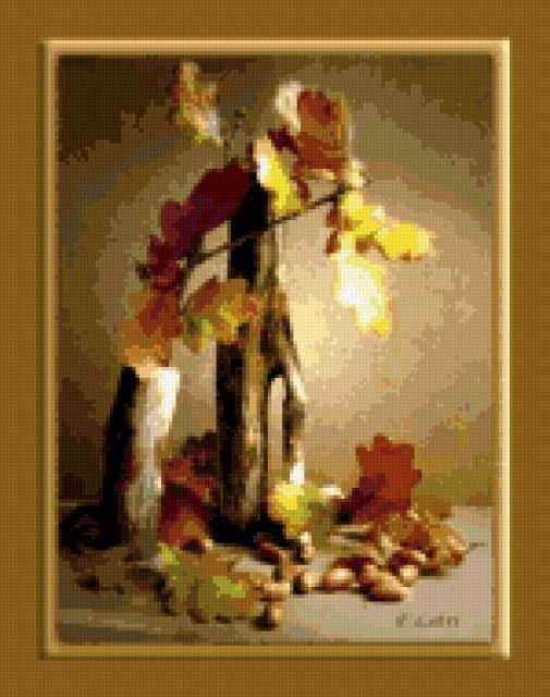 Осень и желуди, предпросмотр