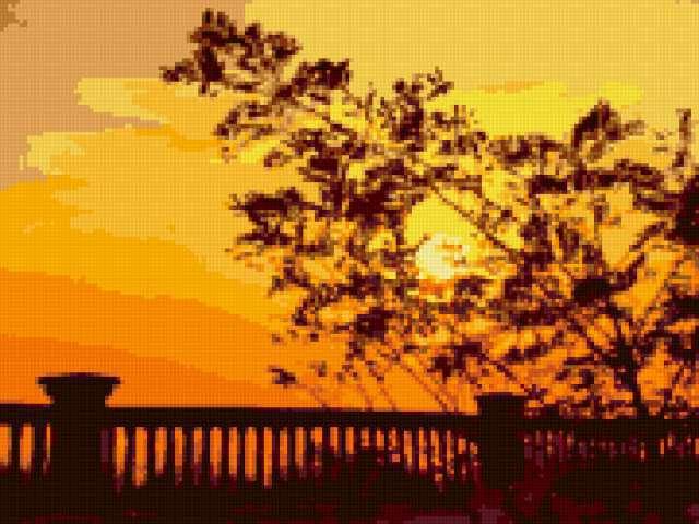 Закат на набережной