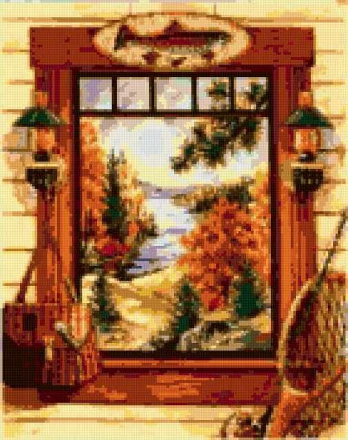 окно, рыбалка, удочки