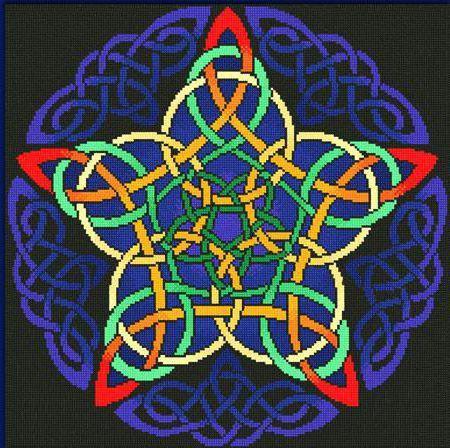 Подушка, кельтская звезда