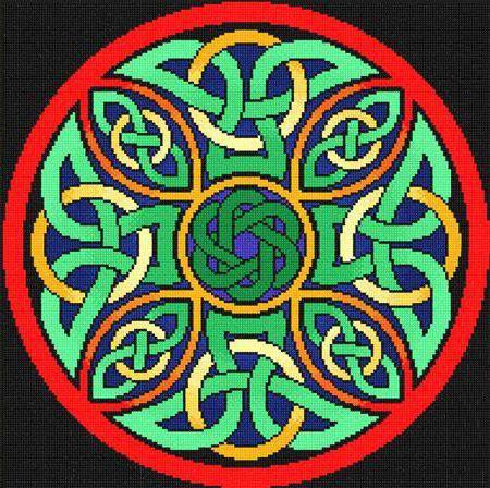 Подушка, кельтсеий медальон