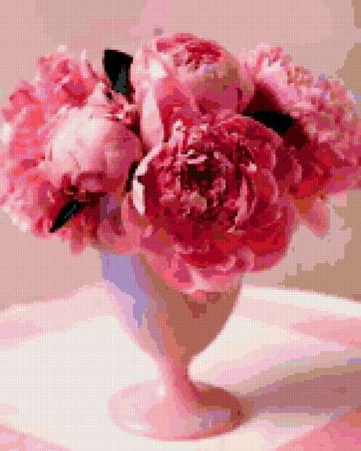 Розовые пионы, предпросмотр