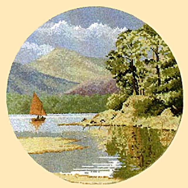 Пейзаж в кругу, оригинал