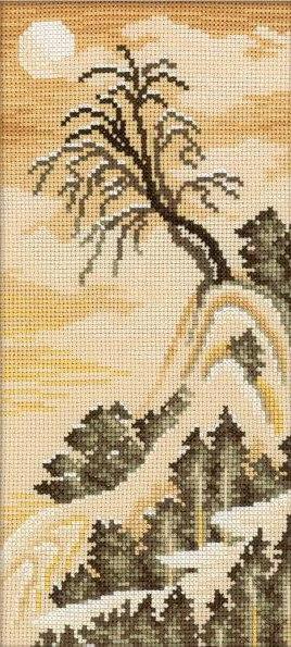 Вышивка крестом схема японские мотивы