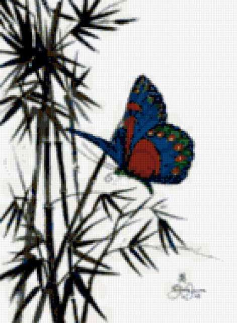 Бабочка и бамбук, предпросмотр