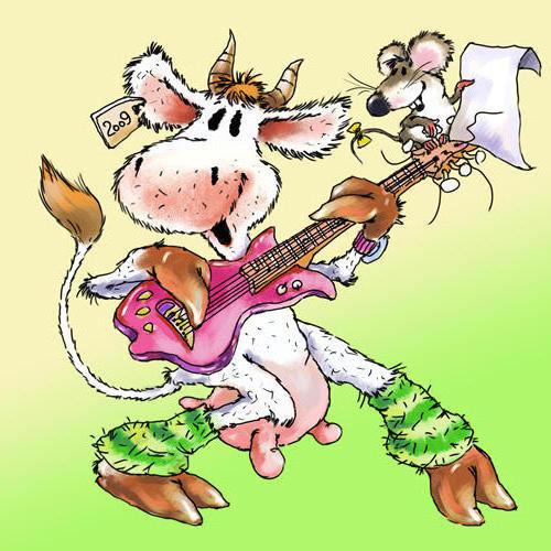 Корова с гитарой, оригинал