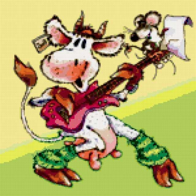 Корова с гитарой, предпросмотр