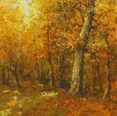 Золотая осень, пейзаж, осень,