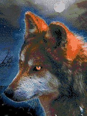 Ночный охотник, волк, охотник.