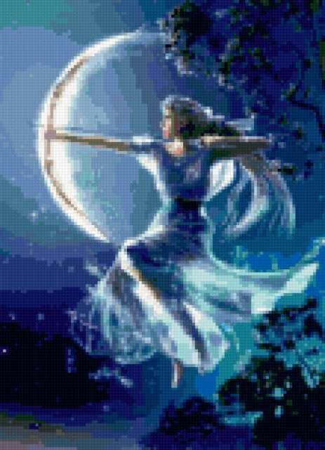 Богиня луны и охоты,