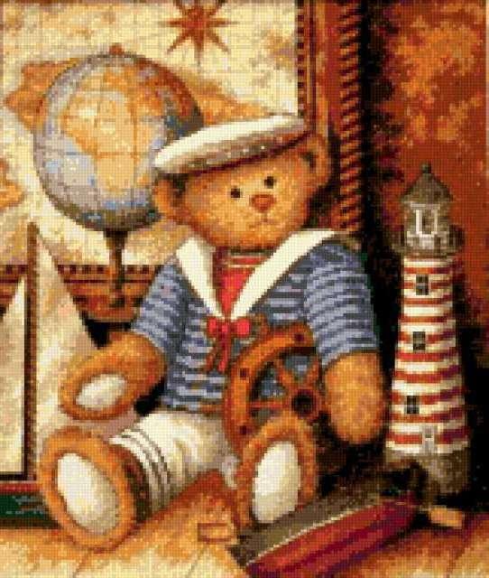 Мишка-морячок, предпросмотр
