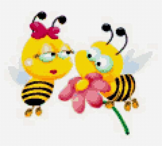 Вышивка для детей. Пчелки