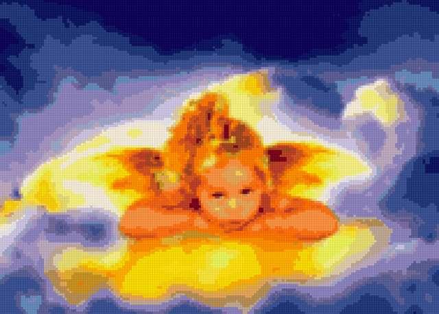 Ангел, ангел, небо, облако