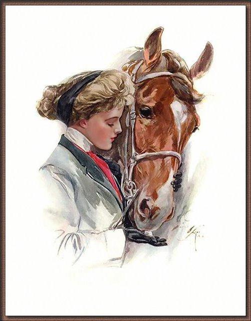 Девочка с лошадью, набор для вышивки, арт. СВ-016 Золотое 25