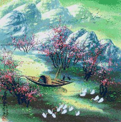 Весенний пейзаж, оригинал