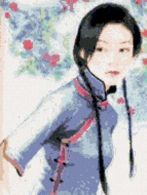 Китаянка и сакура